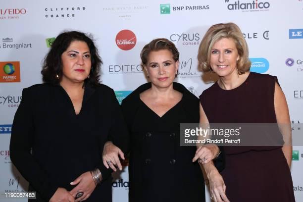 Chekeba Hachemi Grand Duchess Maria Teresa of Luxembourg and Patricia Chapelotte attend the Prix de la Femme d'Influence de l'Annee at Palais...