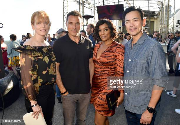 Chelah Horsdal Rufus Sewell Frances Turner and Joel de la Fuente at BuzzFeed Presents A Batsht Crazy Bash With The CW's Batwoman at San Diego...