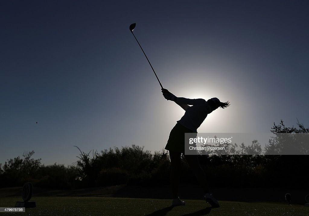 Chella Choi of South Korea hits a tee shot on the ninth hole during the second round of the JTBC LPGA Founders Cup at Wildfire Golf Club on March 21, 2014 in Phoenix, Arizona.