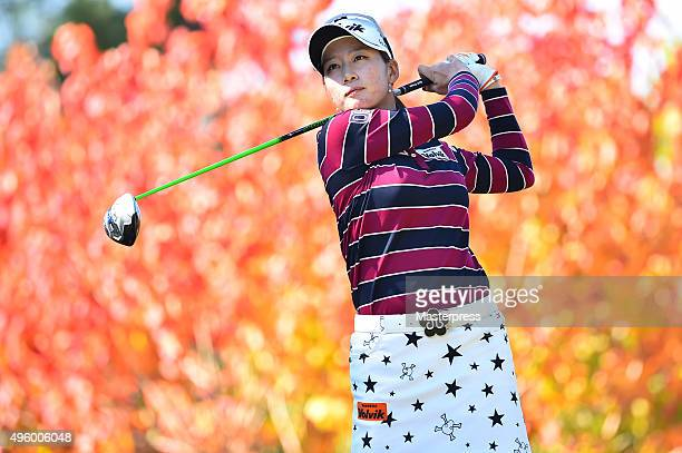 Chella Choi of South Korea hits her tee shot on the 2nd hole during the first round of the TOTO Japan Classics 2015 at the Kintetsu Kashikojima...