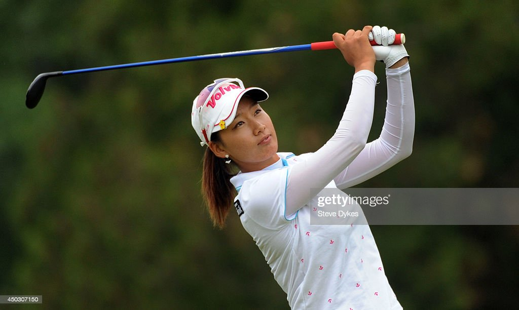Chella Choi of South Korea hits her tee shot on the third hole tee box during the final round of the Manulife Financial LPGA Classic at the Grey Silo Golf Course on June 8, 2014 in Waterloo, Ontario, Canada.