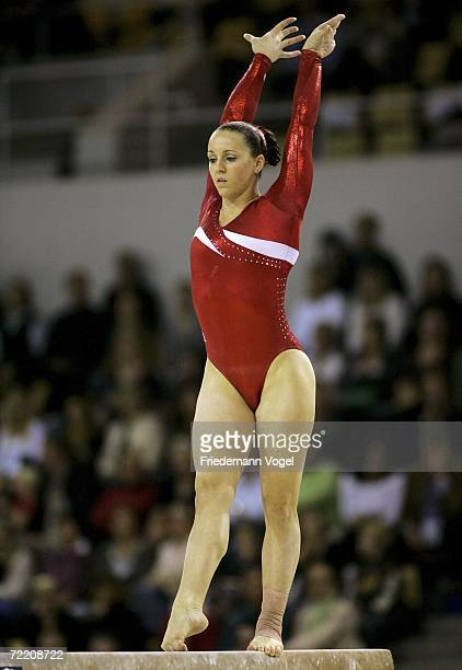 Chellsie Memmel Of The USA Performs On Beam In Womens Team Final During