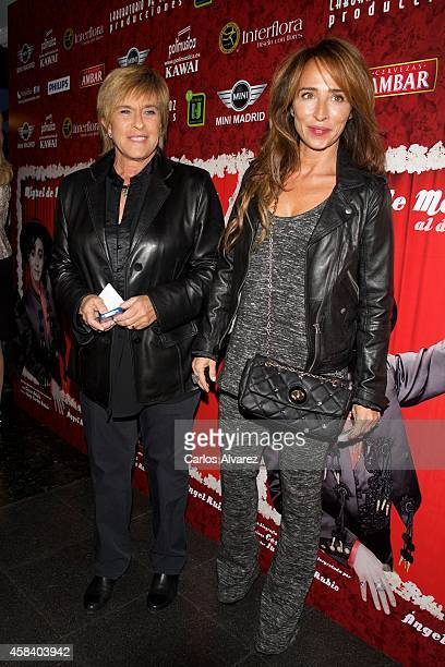 Chelo Garcia Cortes and Maria Patino attend Miguel de Molina al Desnudo premiere at the Santa Isabel Theater on November 4 2014 in Madrid Spain