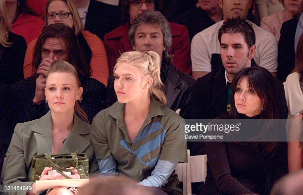 Chelse Swain Dominique Swain and Shannen Doherty during Olympus Fashion Week Fall 2005 Joseph Abboud Front Row and Backstage at Bryant Park in New...
