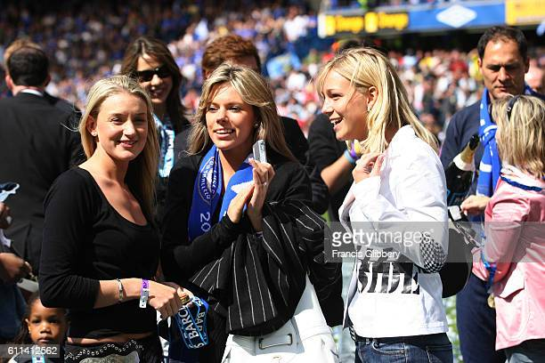 BRIDGE LONDON UK MAY 7TH 2005 Chelsea 1 v Charlton Athletic 0 and Chelsea clinch the Barclays Premiership title Wives girlfriends and families of the...