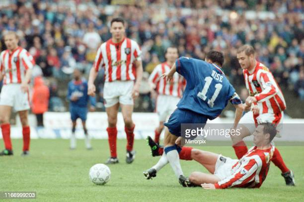 Chelsea 32 Sheffield United Premier league match at Stamford Bridge Saturday 7th May 1994 Dennis Wise fouled