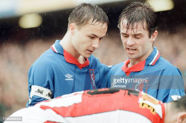 Chelsea 32 Sheffield United Premier league match at Stamford Bridge Saturday 7th May 1994 Dennis Wise and John Spencer
