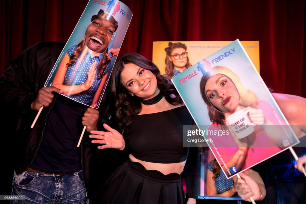 Chelsea Alana Rivera (C) poses for portraits following the 'Female Friendly' Screening at The Three Clubs Hollywood Launching Now on April 30, 2018 in Los Angeles, California.