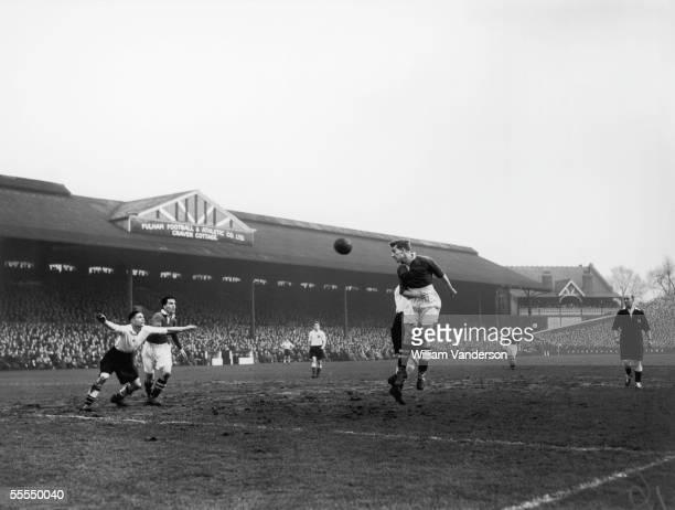 Chelsea and England insideleft Roy Bentley in action at Craven Cottage the Fulham FC ground January 1952