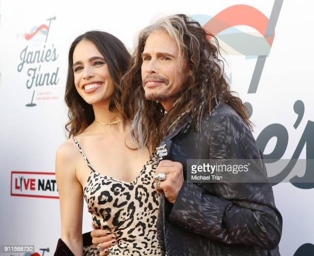 Chelsea Anna Tallarico with her father Steven Tyler arrive to the Steven Tyler and Live Nation presents Inaugural Gala Benefitting Janie's Fund held...
