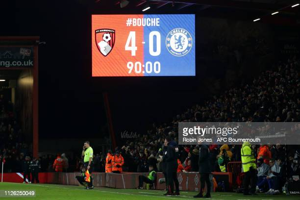 Chelsea are beaten 40 at the Vitality Stadium on January 30 2019 in Bournemouth United Kingdom