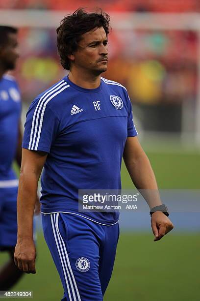 Chelsea Assistant Manager Rui Faria during the International Champions Cup match between Barcelona and Chelsea at FedExField on July 28 2015 in...