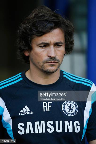 Chelsea Assistant Manager Rui Faria looks on during the pre season friendly match between Vitesse Arnhem and Chelsea at the Gelredome Stadium on July...