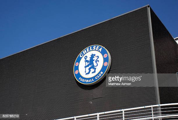Chelsea Badge at Stamford Bridge Stadium home of Chelsea