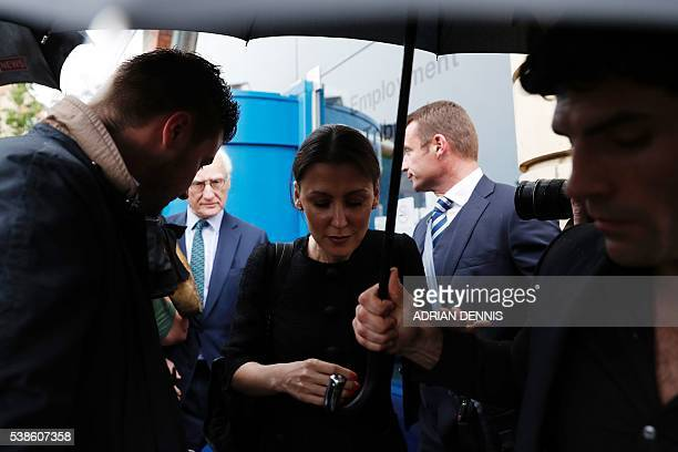 Chelsea board member Marina Granovskaia and Chelsea's US chairman Bruce Buck are surrounded by media as they leave Croydon Employment Tribunal in...