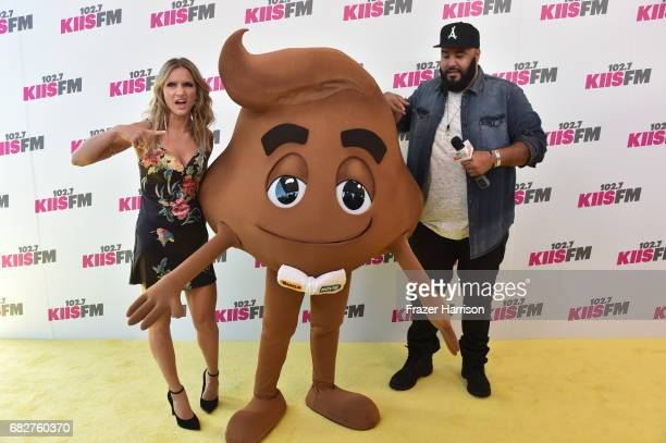 Chelsea Briggs character from 'The Emoji Movie' and Chuey attend 1027 KIIS FM's 2017 Wango Tango at StubHub Center on May 13 2017 in Carson California