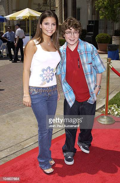 Chelsea Brummet Kyle Sullivan during Hey Arnold The Movie Premiere at Paramount Studios in Los Angeles California United States