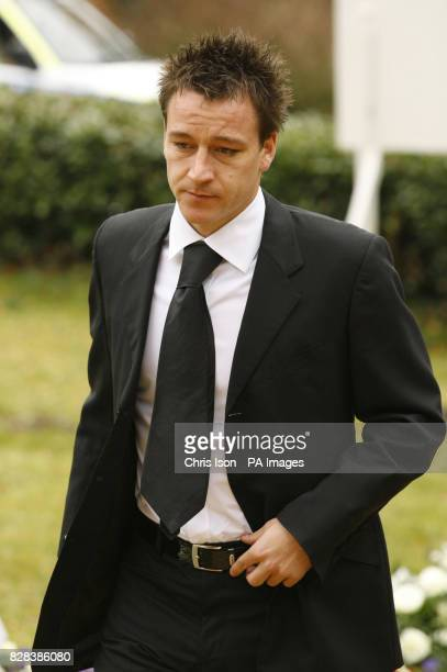 Chelsea captain John Terry arrives for the funeral of Chelsea and England star Peter Osgood at St John the Baptist Church in Shedfield, Hampshire,...