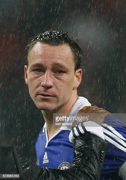 Chelsea Captain John Terry showing signs of his tears after missing his penalty and crying during the UEFA Champions League Final between Chelsea and...