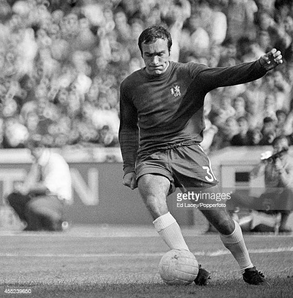 Chelsea captain Ron Harris in action against Arsenal at Stamford Bridge in London on 29th August 1970 Chelsea won 21