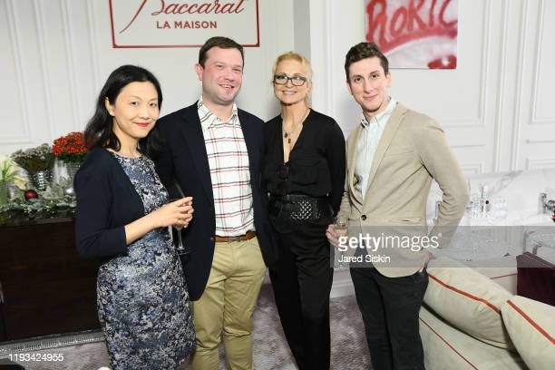 Chelsea Chen Billy Fisher Teresa Laughlin and Guest at Roric Tobin's Holiday Dining Room For Luxury Living at Luxury Living Showroom on December 11...