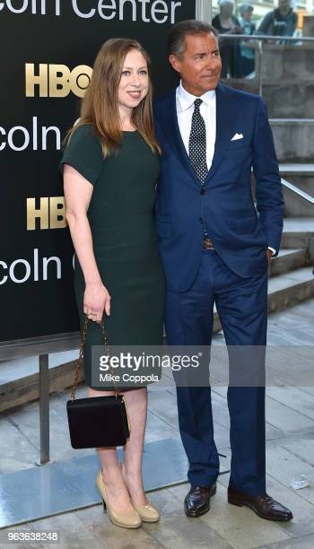 Chelsea Clinton and gala honoree Richard Plepler attend Lincoln Center's American Songbook Gala at Alice Tully Hall on May 29 2018 in New York City