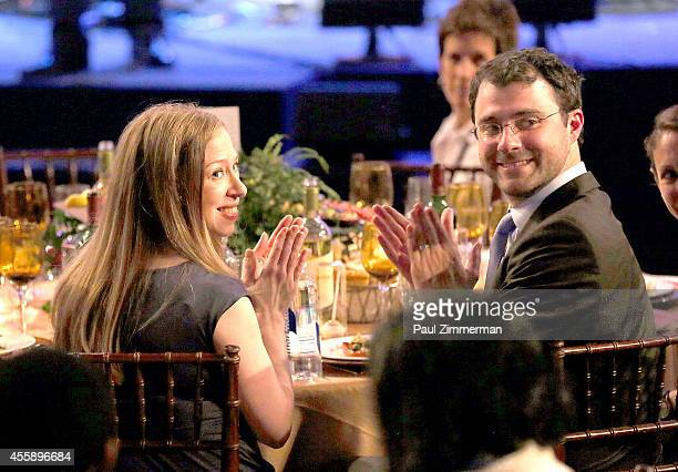 Chelsea Clinton and Marc Mezvinsky attend the 8th Annual Clinton Global Citizen Awards And CGCA Blue Carpet at Sheraton New York Times Square on...
