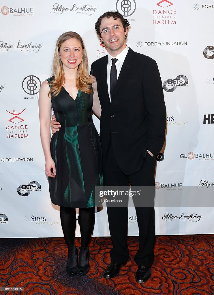 Chelsea Clinton and Marc Mezvinsky attend the Dance Theatre Of Harlem's 44th Anniversary Celebration at Mandarin Oriental Hotel on February 26, 2013 in New York City.