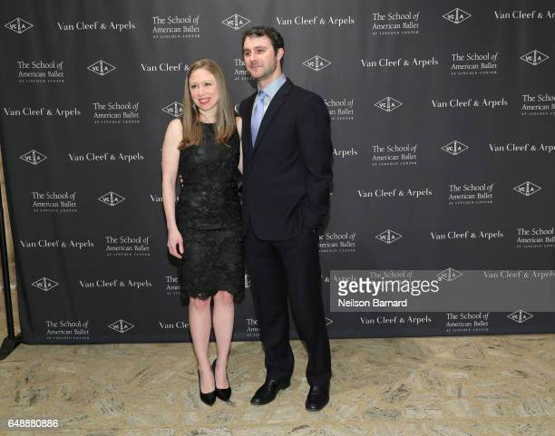 Chelsea Clinton and Marc Mezvinsky attend The School Of American Ballet's 2017 Winter Ball at David H Koch Theater at Lincoln Center on March 6 2017...