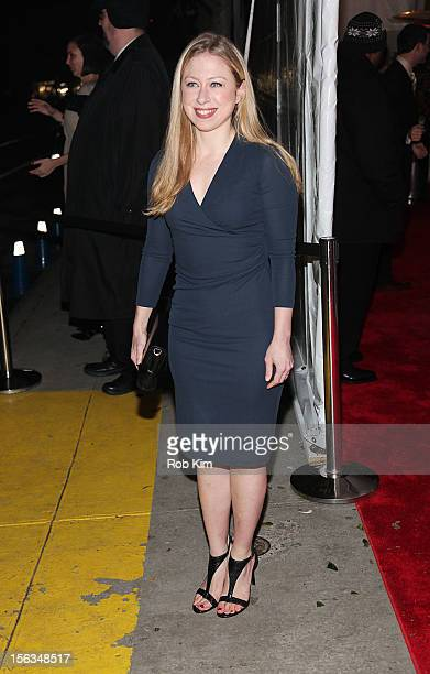 Chelsea Clinton arrives at The Ninth Annual CFDA/Vogue Fashion Fund Awards at 548 West 22nd Street on November 13 2012 in New York City