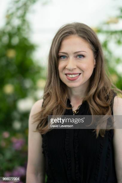 Chelsea Clinton at the Hay Festival on June 2 2018 in HayonWye Wales