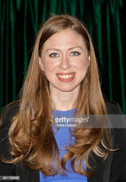 Chelsea Clinton attends a book signing for her new book 'It's Your World Get Informed Get Inspired Get Going' at Vroman's Bookstore on October 7 2015...