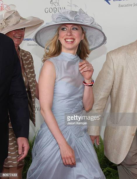 Chelsea Clinton attends the 134th Kentucky Derby at Churchill Downs on May 3 2008 in Louisville Kentucky