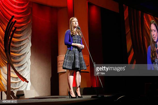 Chelsea Clinton attends the Clinton Global Citizen Awards during the second day of the 2015 Clinton Global Initiative's Annual Meeting at the...