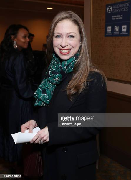 Chelsea Clinton attends the Lincoln Center American Songbook Gala honoring Bonnie Hammer at Broadway Theatre on January 29 2020 in New York City