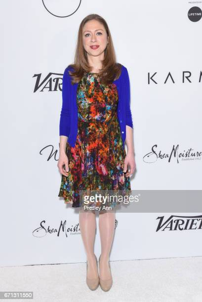 Chelsea Clinton attends Variety's Power of Women New York at Cipriani Midtown on April 21 2017 in New York City
