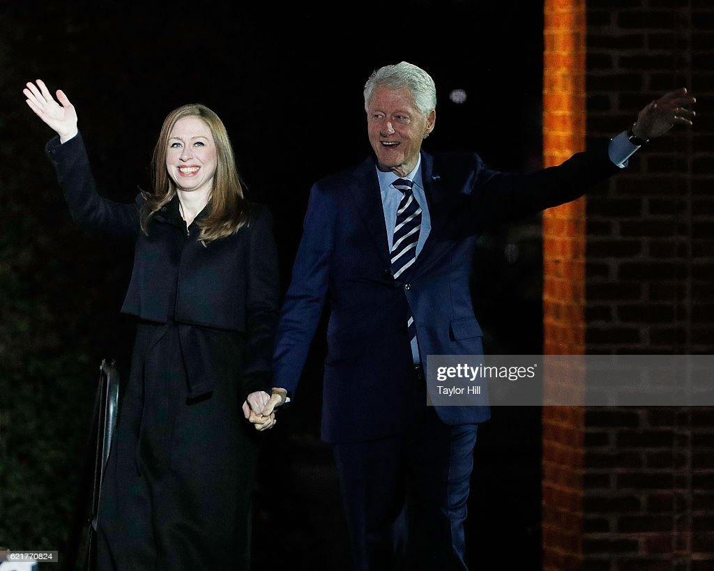 Chelsea Clinton introduces Bill Clinton at 'The Night Before' rally at Independence Hall on November 7, 2016 in Philadelphia, Pennsylvania.