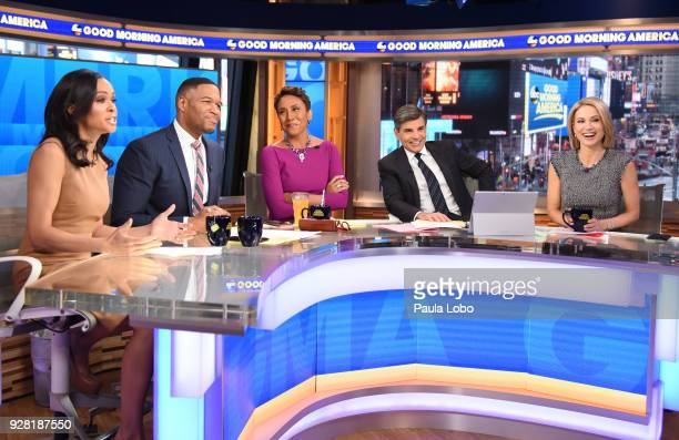 Chelsea Clinton Luke Bryan Ava Duvernay and Val Chmerkovskiy are the guests on Good Morning America Tuesday March 6 2018 airing on the Walt Disney...
