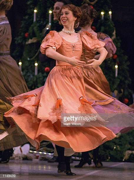 Chelsea Clinton practices her role as the Favorite Aunt in the Washington Ballet's production of the Christmas classic 'The Nutcracker' at the Warner...