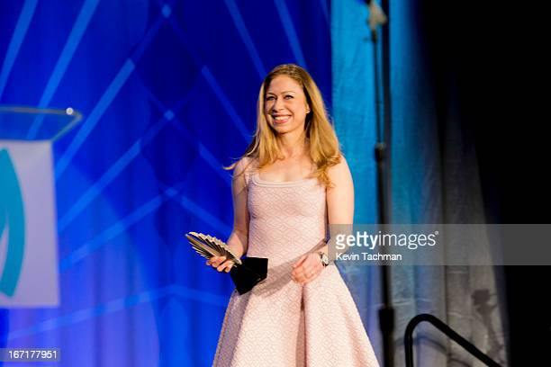 Chelsea Clinton presents Former President of the United States Bill Clinton the Advocate for Change Award during the 24th Annual GLAAD Media Awards...