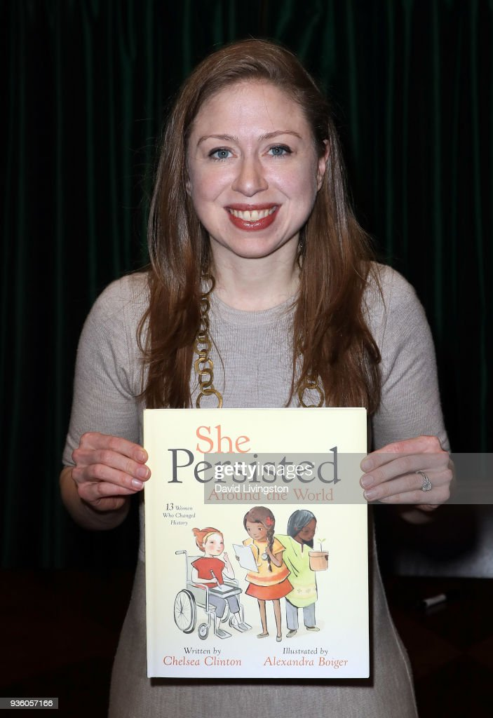 "Chelsea Clinton Signs And Discusses Her New Book ""She Persisted Around The World: 13 Women Who Changed History"""