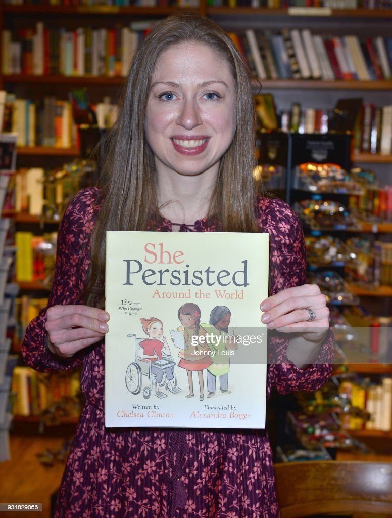 Chelsea Clinton signs copies of her new book 'She Persisted Around the World: 13 Women Who Changed History' at Books & Books on March 19, 2018 in Coral Gables, Florida.