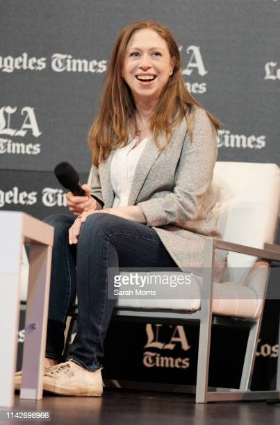 Chelsea Clinton speaks at the 2019 Los Angeles Times Festival of Books at USC on April 14 2019 in Los Angeles California