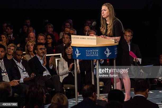 Chelsea Clinton speaks at the Clinton Global Initiative' closing session on September 29 2015 in New York City The Clinton Global Initiative...