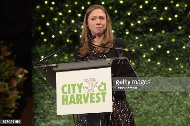 Chelsea Clinton speaks onstage at City Harvest's 23rd Annual Evening Of Practical Magic at Cipriani 42nd Street on April 25 2017 in New York City