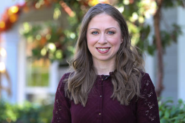 """Chelsea Clinton visits Hallmark's """"Home & Family"""" at Universal Studios Hollywood on October 9, 2018 in Universal City, California."""