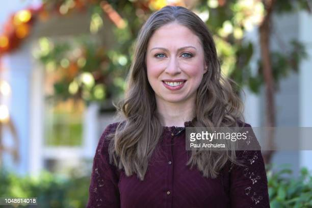 Chelsea Clinton visits Hallmark's Home Family at Universal Studios Hollywood on October 9 2018 in Universal City California