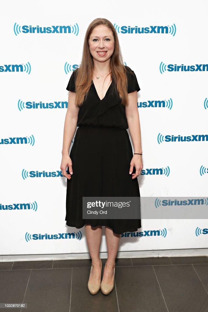 Chelsea Clinton visits the SiriusXM Studios on September 13