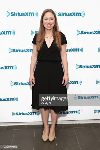 Chelsea Clinton visits the SiriusXM Studios on September 13, 2018 in New York City.