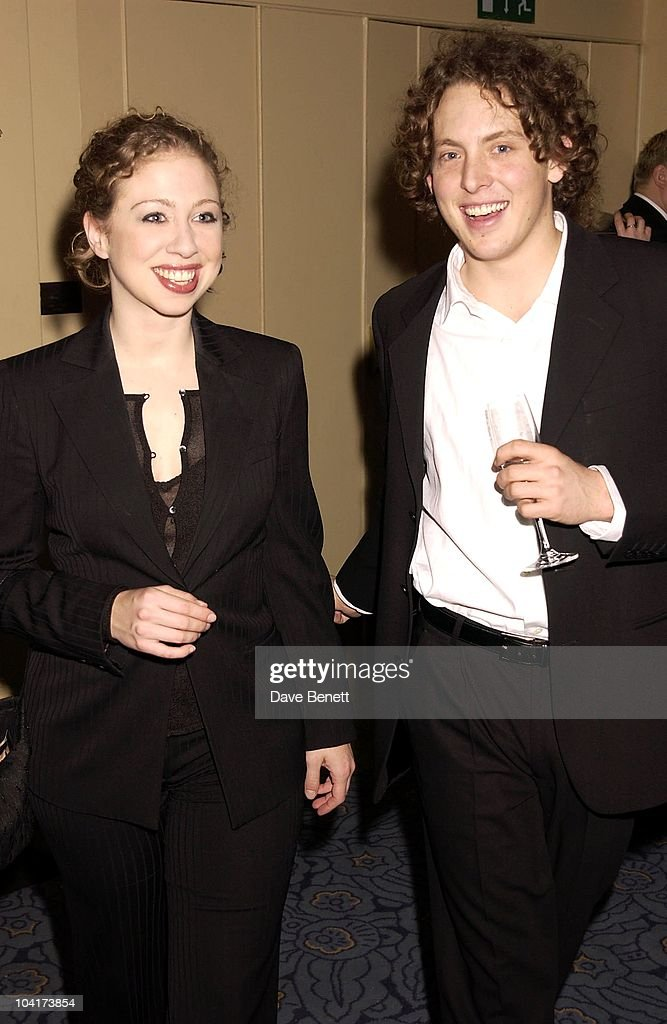 Chelsea Clinton With Boyfriend, The Premiere Of Shipping News Was Followed By A Glamorous Party At Clarridges Hotel In London.